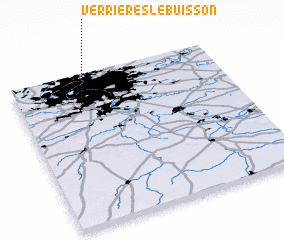 3d view of Verrières-le-Buisson
