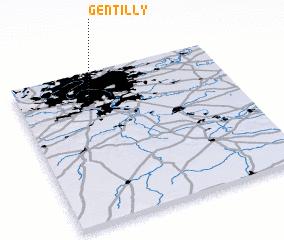 gentilly france map. Black Bedroom Furniture Sets. Home Design Ideas