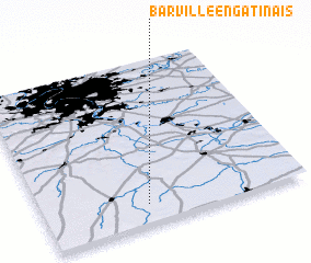 3d view of Barville-en-Gâtinais