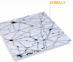 3d view of Écuvilly
