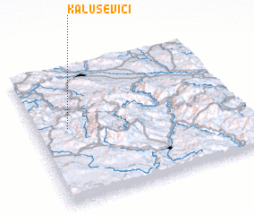3d view of Kaluševici