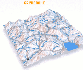 3d view of Grykë-Nokë