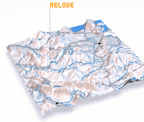 3d view of Melovë