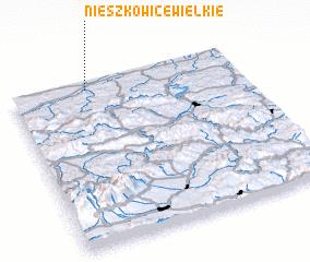 3d view of Nieszkowice Wielkie