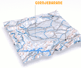 3d view of Gornje Barane