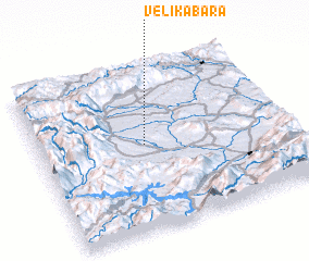 3d view of Velika Bara