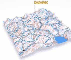 3d view of Kosovec