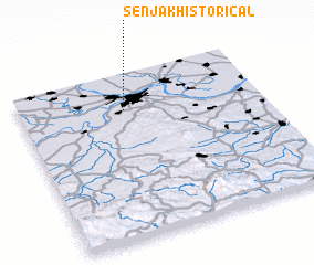 3d view of Senjak (historical)