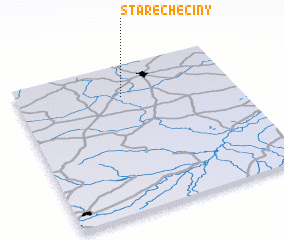 3d view of Stare Chęciny