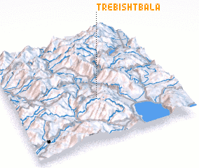 3d view of Trebisht-Bala