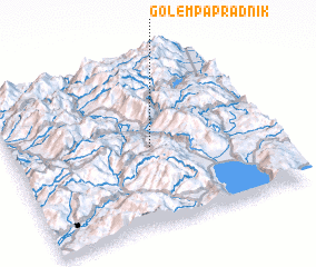3d view of Golem Papradnik