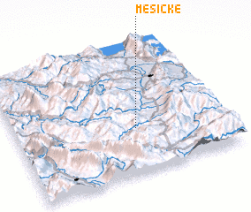 3d view of Mësiçkë
