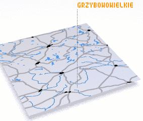 3d view of Grzybowo Wielkie