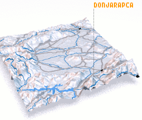 3d view of Donja Rapča