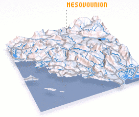 3d view of Mesovoúnion