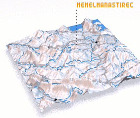 3d view of Mëmël-Manastirec