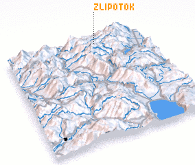 3d view of Zli Potok