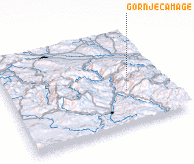 3d view of Gornje Čamage