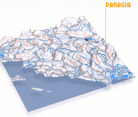 3d view of Panagía