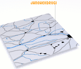 3d view of Janówek Drugi