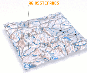 3d view of Ágios Stéfanos