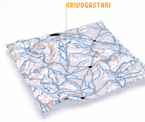 3d view of Krivogaštani