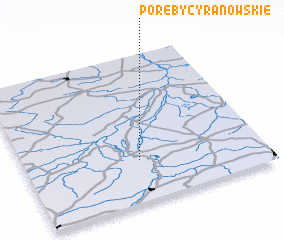 3d view of Poręby Cyranowskie