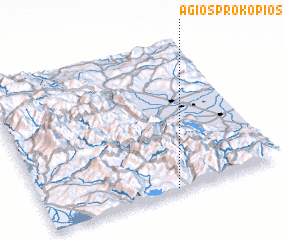 3d view of Ágios Prokópios