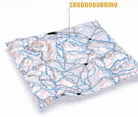 3d view of Sredno Dobrino
