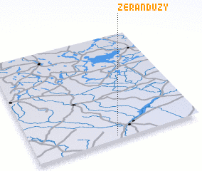 3d view of Żerań Duży