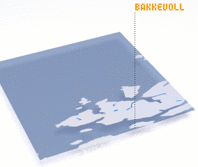 3d view of Bakkevoll