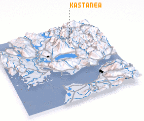 3d view of Kastanéa