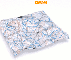 3d view of Krušje