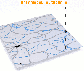 3d view of Kolonia Pawłowska Wola