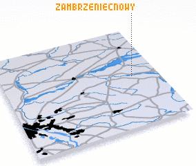 3d view of Zambrzeniec Nowy