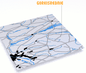 3d view of Górki Śređnie