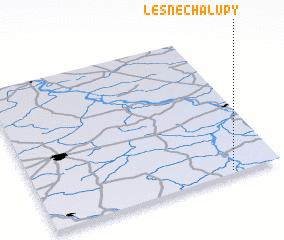 3d view of Leśne Chałupy
