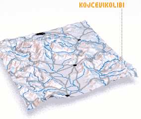 3d view of Kojčevi Kolibi