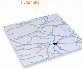 3d view of Łysa Góra