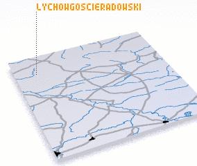 3d view of Łychów Gościeradowski