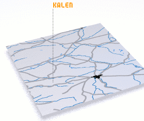 3d view of Kaleń
