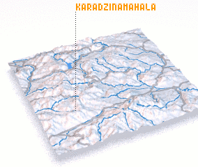 3d view of Karadžina Mahala