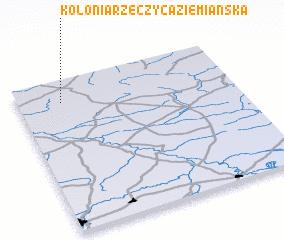 3d view of Kolonia Rzeczyca Ziemiańska