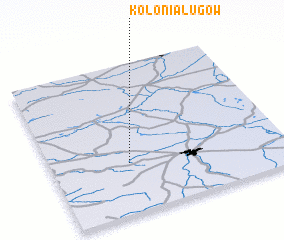 3d view of Kolonia Ługów