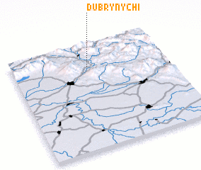 3d view of Dubrynychi
