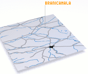 3d view of Branica Mała