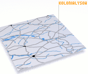 3d view of Kolonia Łysów