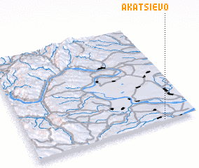 3d view of Akatsievo