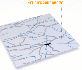 3d view of Mełgiew Podzamcze