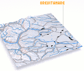 3d view of Oreviţa Mare
